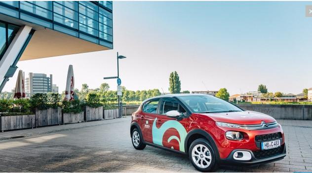 Cinquante Citroën C3 pour de l'autopartage en Allemagne