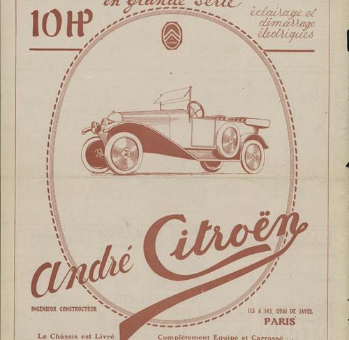 En 1919, sort la première Citroën la Type A au travers d'une publicité originale...déjà