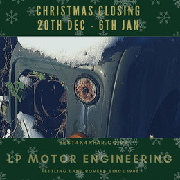 We are closing over Christmas.