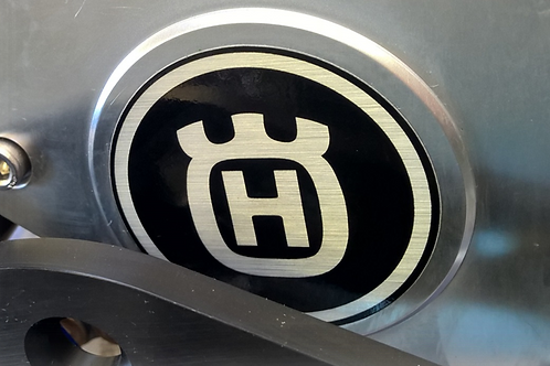 Husqvarna Sprocket Cover / Chain guard sticker / decal