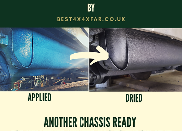 Underbody protection and chassis rustproofing