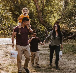 Family enjoying the farm