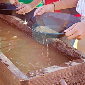 Kids gold panning