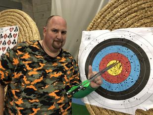 Matt shooting with new bow