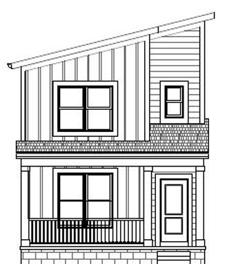 2021-04-01- Front Elevation - 517 E Star