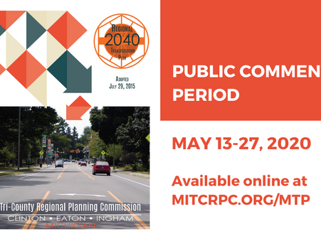 Public Meeting & Comment Period Notice: Reaffirmation of the 2040 Metropolitan Transportation Plan