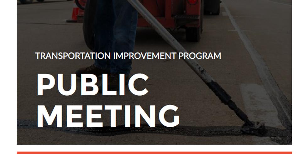 Public Meeting: Transportation Improvement Program