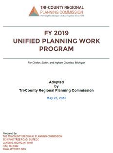 FY 2019 Unified Planning Work Program