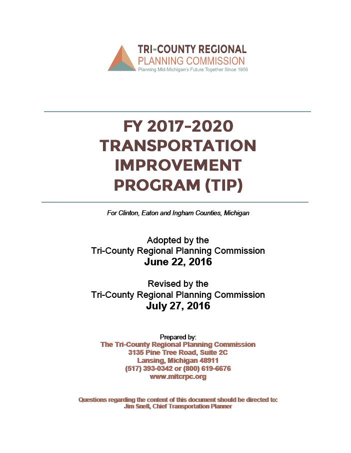 FY 2017-2020 Lansing Area Transportation Improvement Program