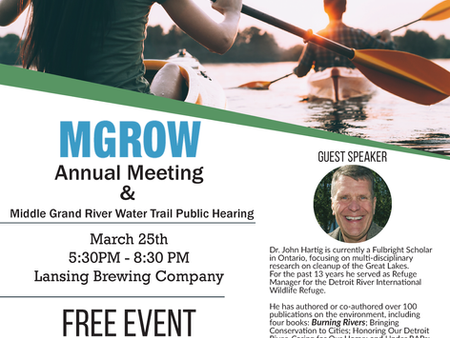 MGROW Annual Meeting & Middle Grand River Water Trail Public Hearing