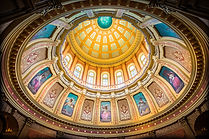 Image of the inside of the Lansing Capitol dome