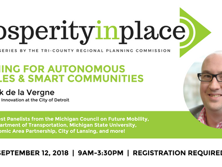 Speaker Series on Autonomous Vehicles Coming to Lansing