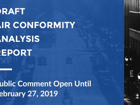 Public Comment Open for Air Conformity