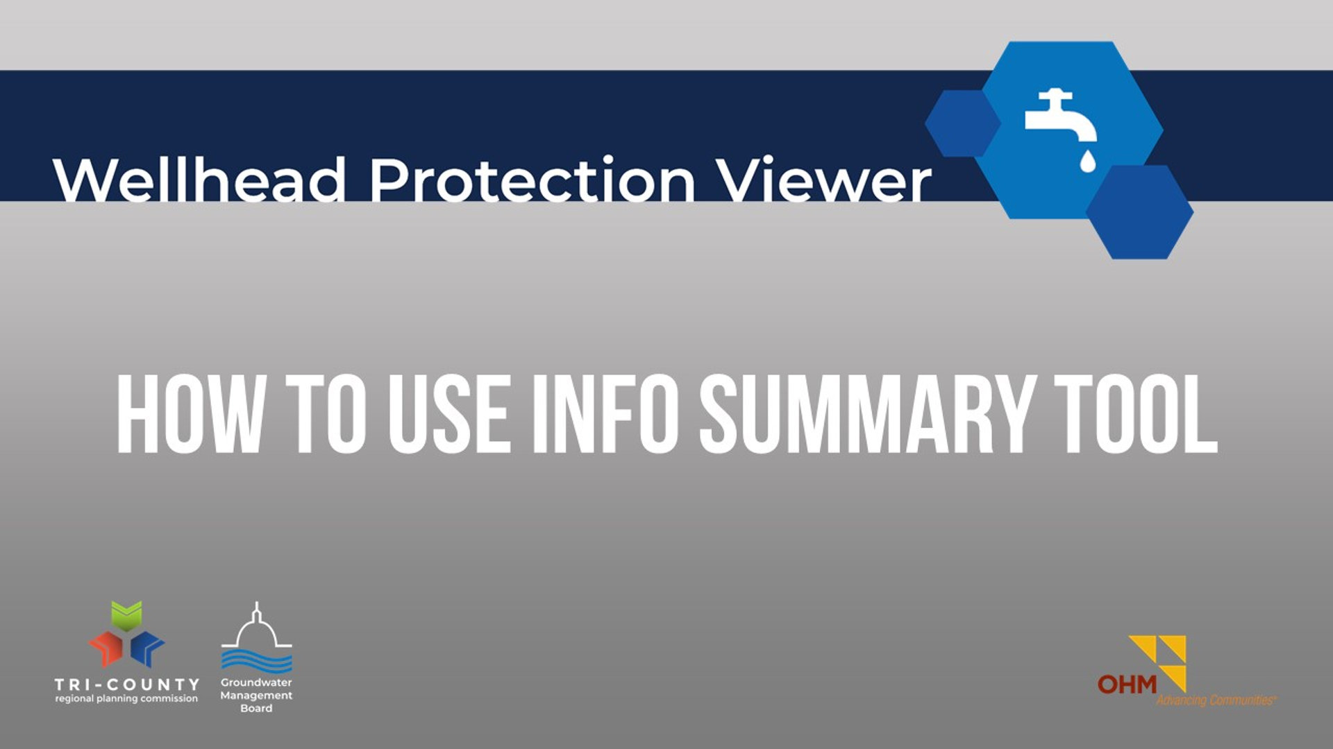 How to Use the Info Summary Tool