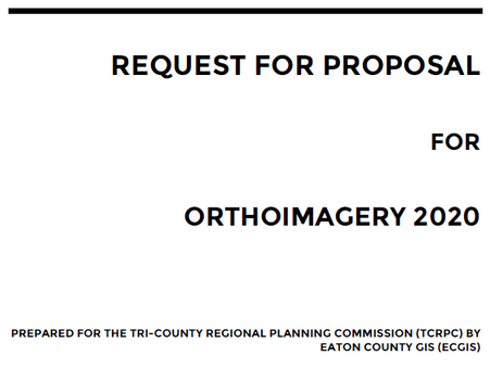 Request for Proposals: Orthoimagery Services