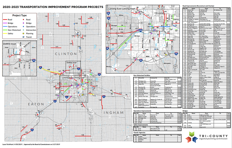 FY 2020-2023 TIP Project Maps