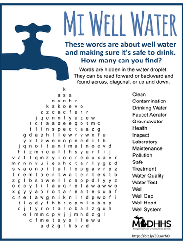 Well Water Word Search