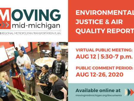 Public Meeting & Comment Period Notice: 2045 MTP Environmental Analyses
