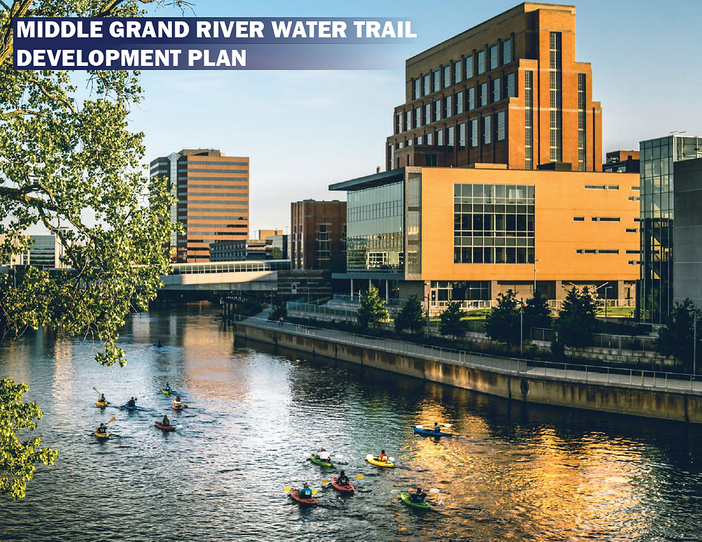 Cover of Water Trail Plan with Grand River and Kayakers