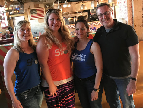 Savage Strong Meet-Up (Brooke, Kristi, Lori & Scott)