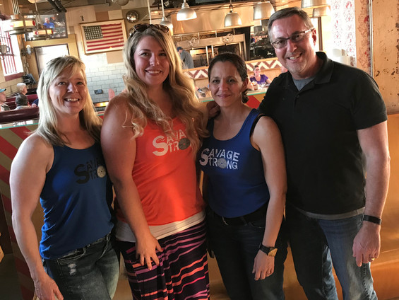 Savage Strong Meet-Up (Brooke, Kristi, Lori & Scott)