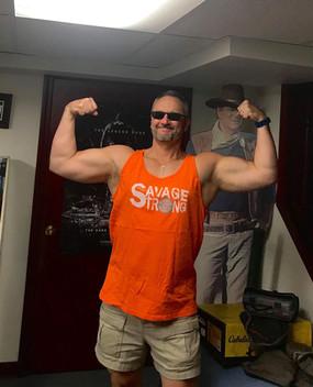 Big G rocks the orange Unisex Tank