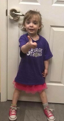 "Violet says ""Thumbs Up"" to being Savage Strong"