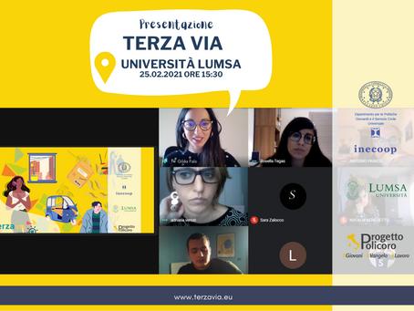 Inaugurato il progetto Terza Via all'Università Lumsa. Iscrizioni gratuite e aperte fino al 20 marzo