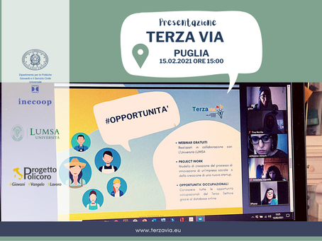 Presentato il progetto Terza Via in Puglia. Iscrizioni gratuite e aperte fino al 20 marzo 2021