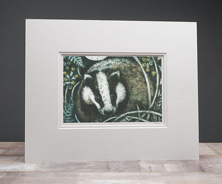 Badger in Moonlight
