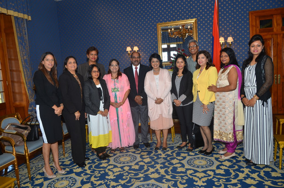 WiLAT delegation met with the President of Republic of Mauritius