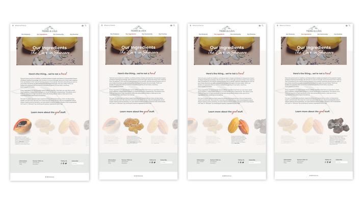 UX Design: Ingredients Page