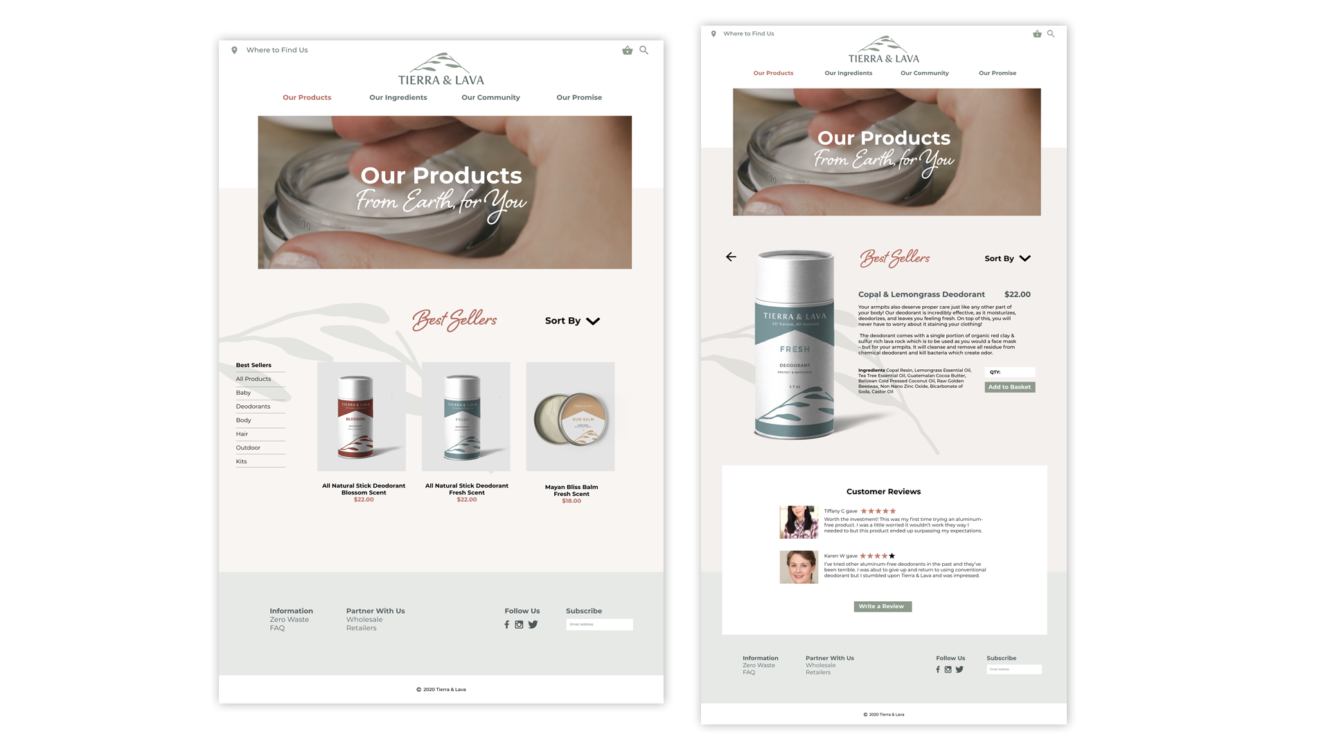 UX Design: Products Page