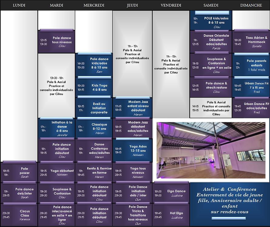 planning Eclipse Studio - Cours de danse 28