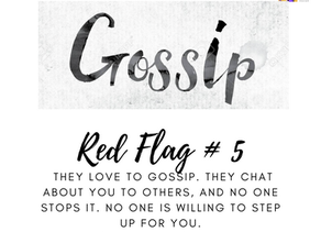 Domestic Violence Red flag! Gossip? No Way!