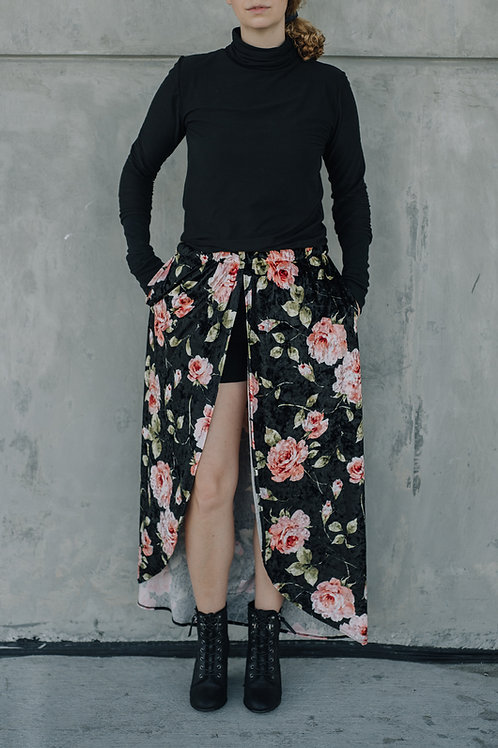 Velvet Split Skirt