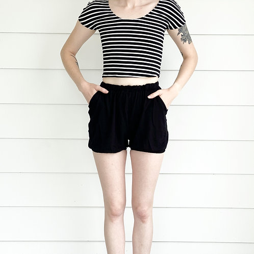 Marionette Shorts in Jersey Black