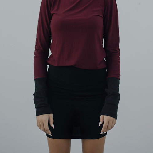 Staple Pencil Skirt in Organic Black