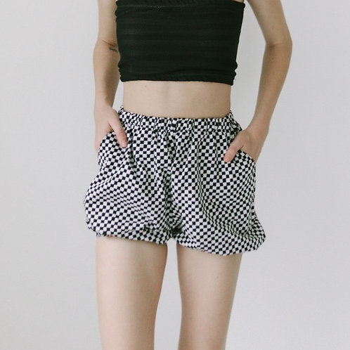 Marionette Shorts in Clown Check