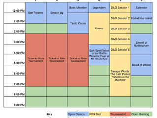 Tabletop Day Schedule