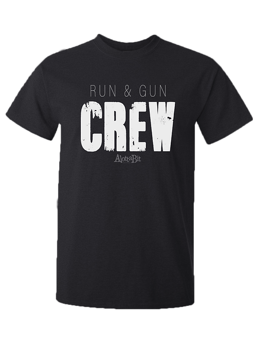 RUN & GUN  T-shirt Urban Streetwear 100% Cotton Tee Men's New