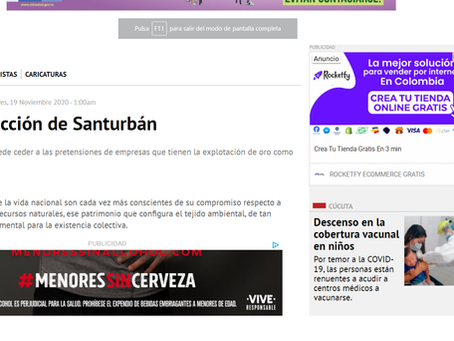 Editorial del diario La Opinión sobre el páramo de Santurbán