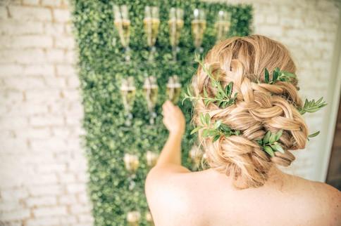 Bridal Hair at Champagne Wall.jpg