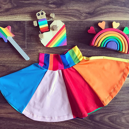 Full Circle Rainbow Skirt