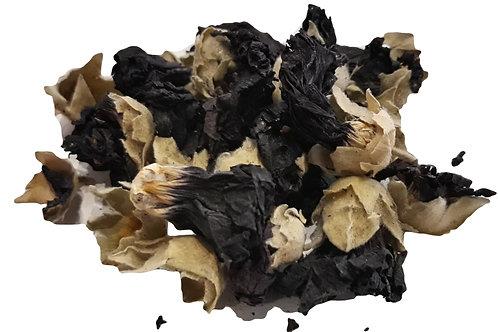 Malva flower black