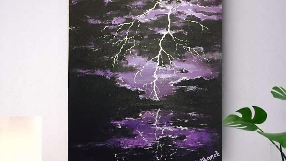 """Картина """"Молния в ночи"""""""