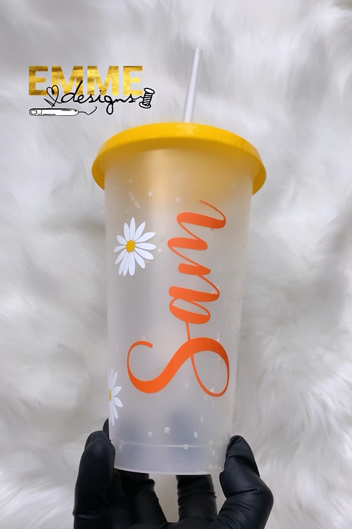 Daisies custom cup