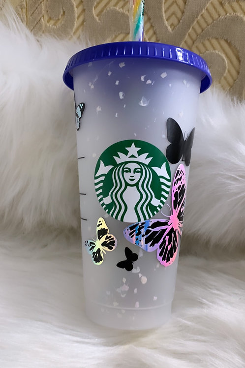 Butterfly Confetti Cup