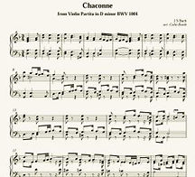 Chaccone in D minor Sheet Music