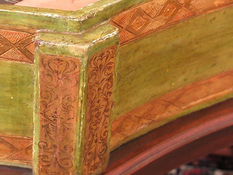 17th century harpsichord by Celini, part of decoration after restoration process
